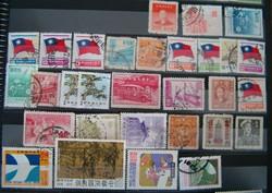 30 darab kommunista kínai bélyeg kinai népköztársaság Sun Yat Sen  japán megszállás 80 as évek stb