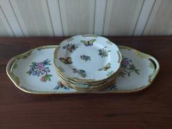 Herend Victoria pattern cake set 7 pcs