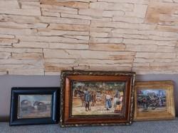 Pállya Celesztin és Carolus festmények (3db)