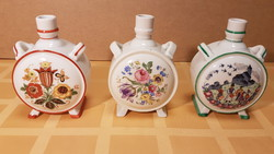 Together with 3 pieces of zsolnay porcelain bottle
