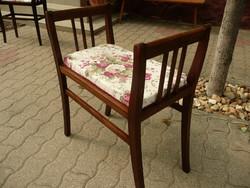 Eredeti antik szecessziós ülőke / szófa frissen újra kárpitozva, maximálisan stabil