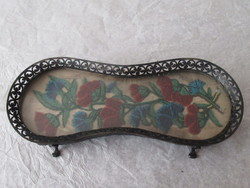Silver, beaded antique holder
