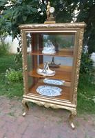 Gilded - carved display case