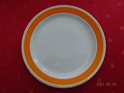 Hollóház porcelain small plate with orange border, diameter 19 cm. He has!