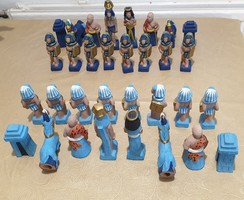 Egyptian figurine chess set for sale! Hand painted ceramic chess set
