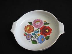 Porcelain ashtray ashtray with hand painting in Kalocsa