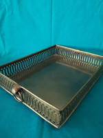 Old openwork rimmed copper tray