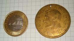 Ismeretlen nagyméretű réz ? pénz érme  nem tudom elolvasni mikori ránézésre ugy 1800 körüli lehet