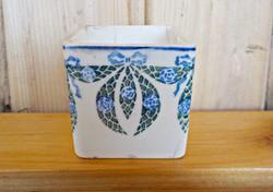 Antique Art Nouveau mini pot with flowerpot