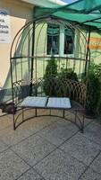 Iron dome garden bench