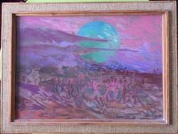 Sándor Vecsési: moon dream (50 * 70 cm)
