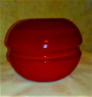 Kerámia gömb váza, mély burgundi színű