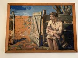 Ezüst György festmény (105x145)