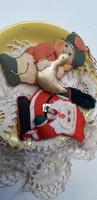 Karácsonyfadisz 2db textil.díszek