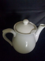 Zsolnay: creamy, covered spout, from the 20s
