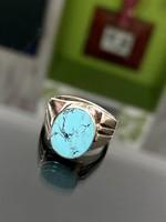 Gyönyörű ezüst gyűrű Türkiz kővel