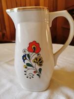 Zsolnay porcelain jug, folk pattern, flawless
