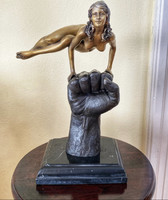 Bronze gymnast