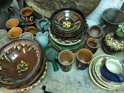 Sokdarabos népi edény készlet (nem egybefüggő)