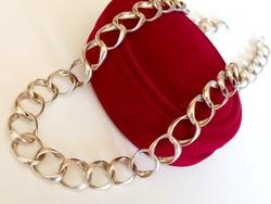Női ezüst nyaklánc, nyakék