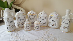 German herr ceramics, hand painted spice racks
