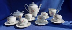 Old stadtlengsfeld mocha coffee set, cheerful, floral charming, small delicious piece of tulip
