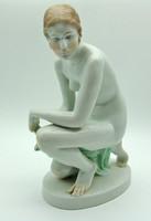 B780 Herendi Lux Elek akt szobor 35 cm - meseszép gyűjtői darab