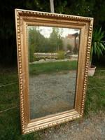 Nagyon régi, ökörszemes, eredeti csiszolt ezüstözött üvegű, fali tükör az 1800-as évekből 104*70 cm