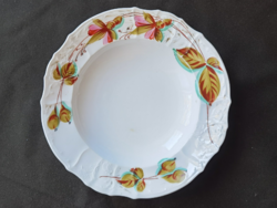 Antique hand painted Biedermeier fuchsia plates