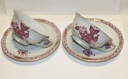 Antique Herend appony teacup with bottom - 1941s'