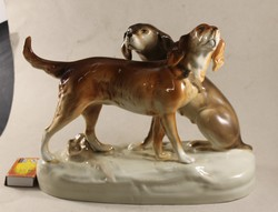 Royal dux hunting dog pair 547