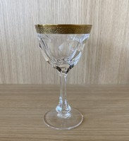 Moser Lady Hamilton aranyozott sherry pohár készlet (6db)