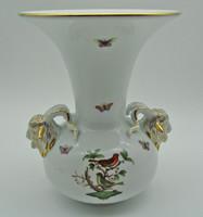B784 Herendi Rotschild mintás kosfejes óriás váza - meseszép gyűjtői darab