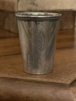 Ezüst orosz vodkás pohár