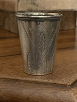 Silver Russian vodka glass