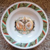 Ferecz József 1. Világháborús porcelán tányér 1914-1915
