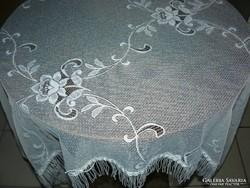 Vintage style fringed rose curtain