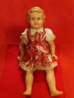 Antique minerva celluloid toy doll in original dress according to the pictures