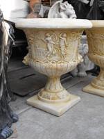 Huge mansion garden antifreeze artificial stone chalice flowerpot balcony vase art sculpture