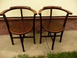 2 db egyforma antik Lichtig féle stabil Thonet szék egyben eladó