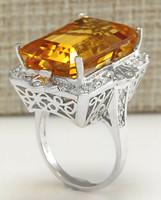 18k sárga arany luxus gyűrű gyémánttal