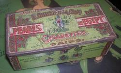 Antique egyptian cigarette metal box