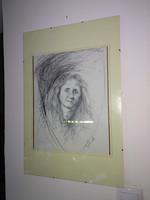 Zambo jimmy portrait, drawing in glass frame