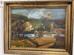 Áralt elado SOS. Csodálatos Kádár J. Miklos olaj festménye  gyüjtöi darab