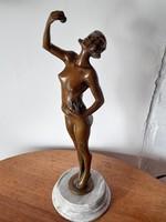 Margittay bronze female statue 42 cm