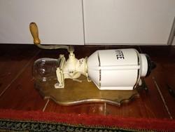 Pe. De. Kaffee coffee grinder kávédaráló, Peter Dienes antik 19. 20. sz. daráló