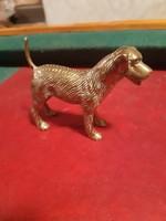 Pazar régi réz kutya szobor