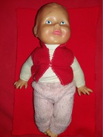 Antique numbered rubber baby boy with original clothes in the condition shown in the pictures