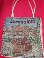 Old Jerusalem memorial women's minivan shoulder bag across tapestry on two sides in beautiful condition according to pictures
