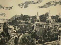 Máté lajos Csurgói (1931-): view of Budapest